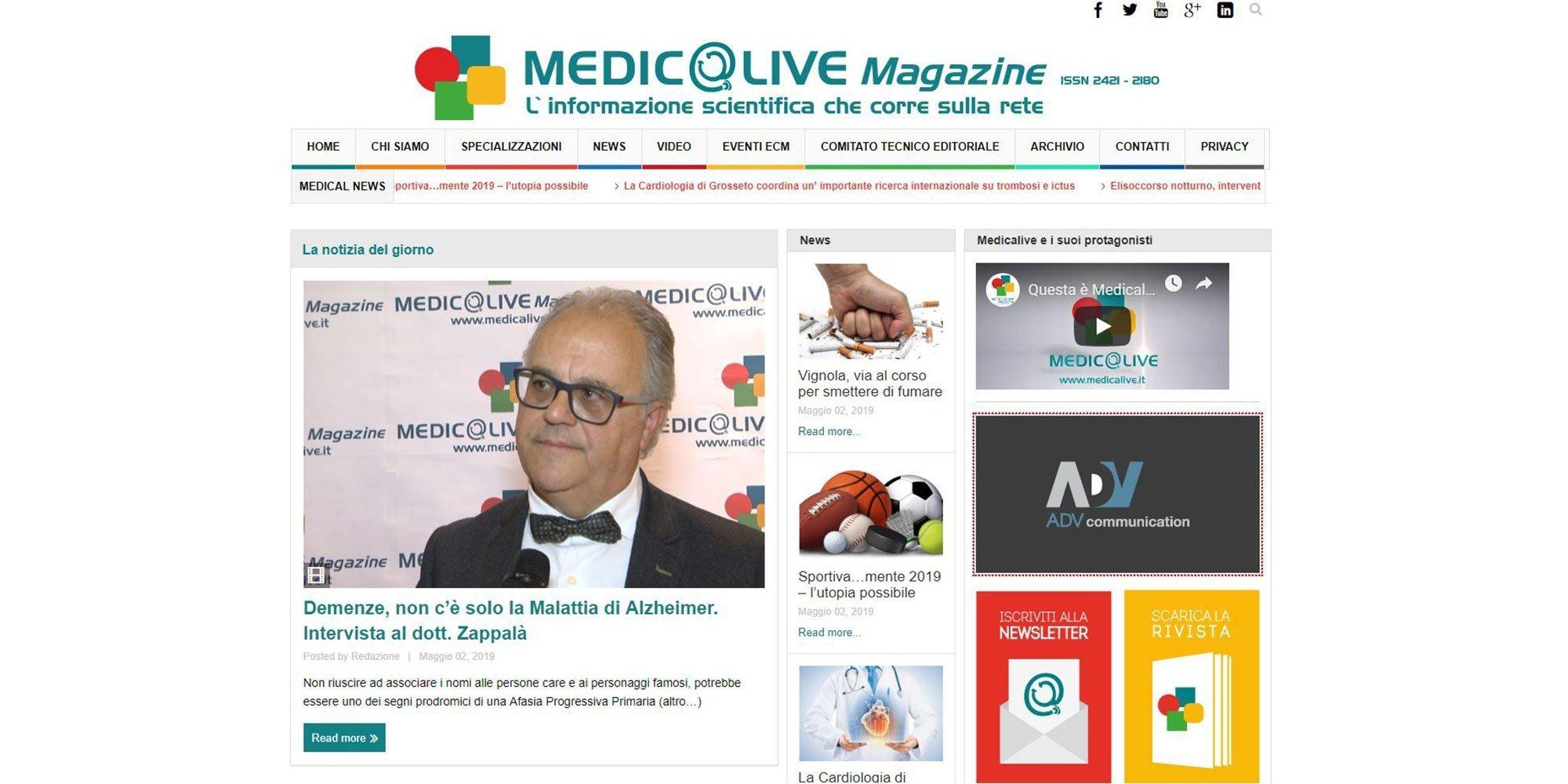 Portfolio Clienti | Collaborazione con Medicalive Magazine per la SEO