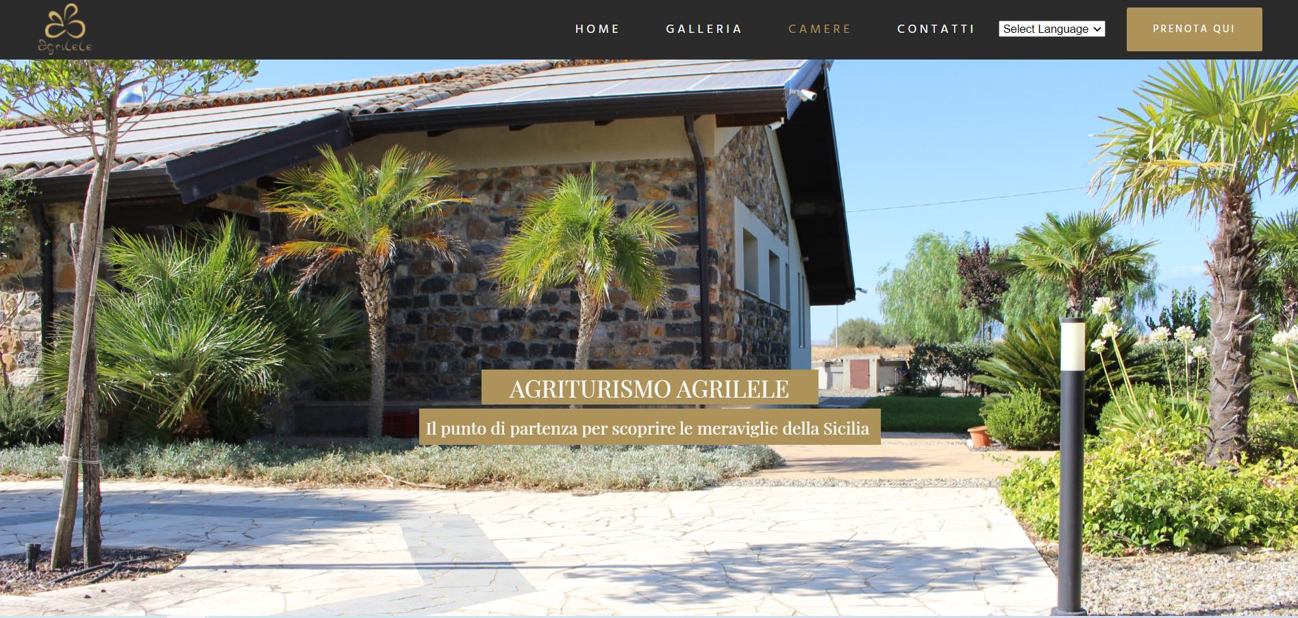 Agrilele agriturismo sito web vetrina